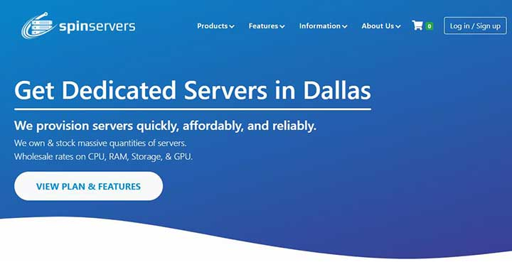 spinservers:美国圣何塞独服,100M1Gbps10Gbps带宽,不限流量,低至$119/月,配置超高,超过你的预期